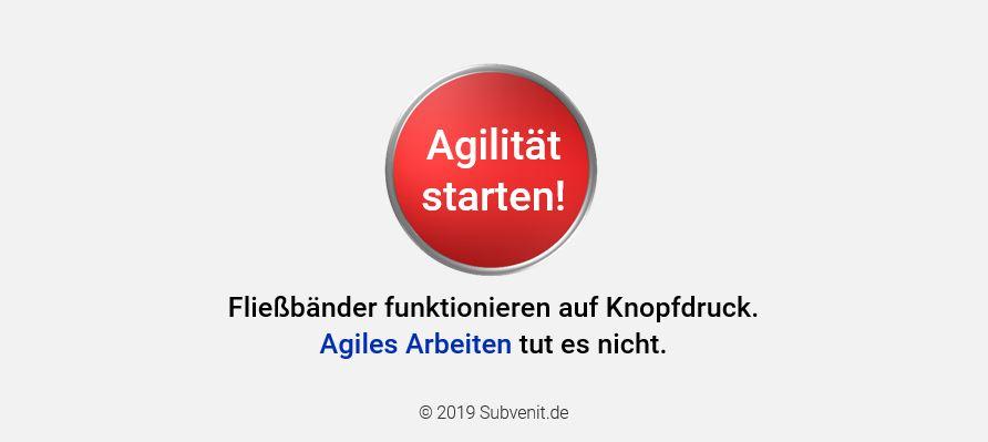 Agiles Arbeiten funktioniert nicht auf Knopfdruck
