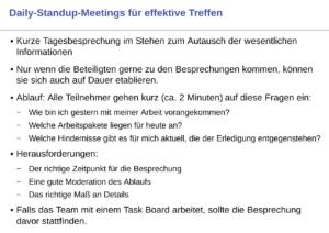 Agile Technik Daily-Standup-Meetings