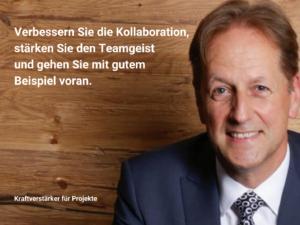 Kollaboration verbessern, Teamgeist stärken und mit gutem Beispiel voran