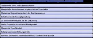 Lean Management - Harausforderungen