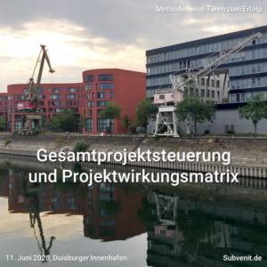 Methode 10 Gesamtprojektsteuerung Projektwirkungsmatrix Q