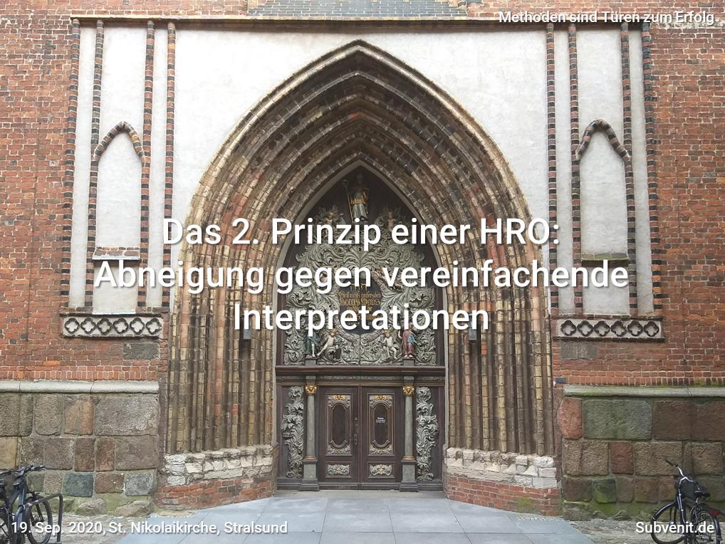 Abneigung gegen vereinfachende Interpretationen