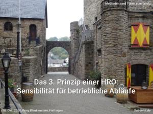 Methode 16 3. Prinzip HRO Sensibilität für betriebliche Abläufe