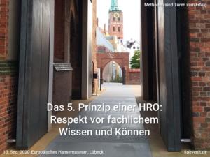 Methode 18 HRO 5 Respekt vor fachlichem Wissen und Können