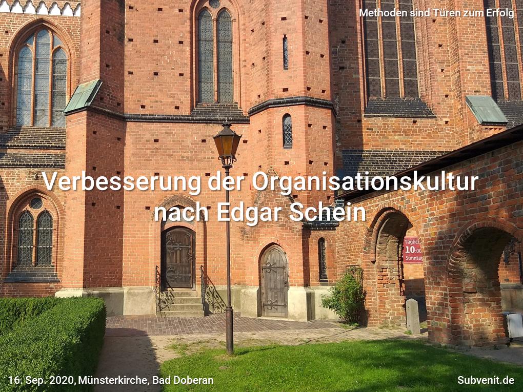 Methode 19 Verbesserung der Organisationskultur nach Edgar Schein