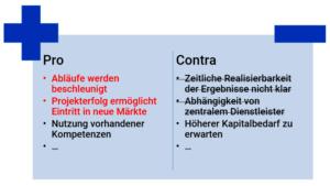Pro-Contra-Liste 3 Intuitive Gewichtung bei der Projektbewertung
