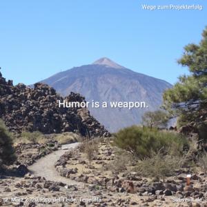 Wege 19 Humor is a weapon